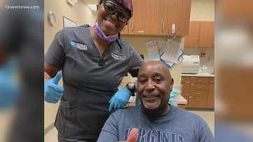 Newport News dentist gives back giving a Navy vet with a smile