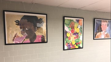 IN SESSION: School chef in Norfolk brightens cafeteria with his original artwork