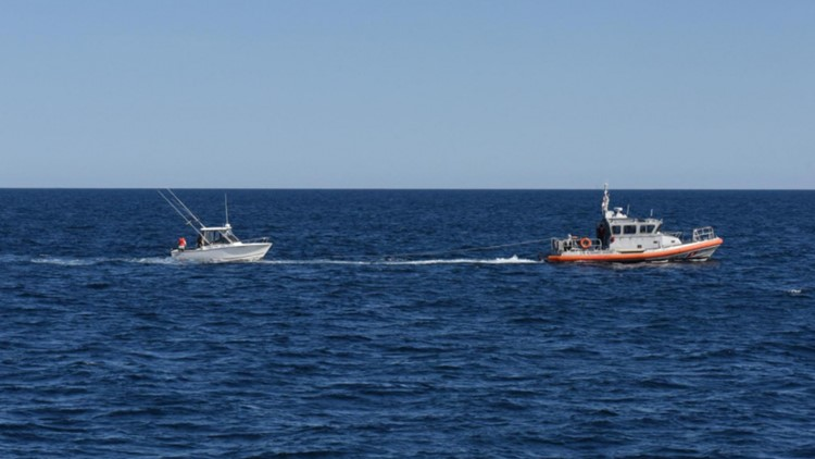 Coast Guard rescues 4 off Virginia's Eastern Shore when boat starts sinking