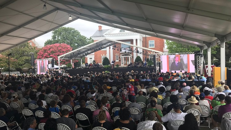 Gov. Northam announces commission on African American history education at Hampton's African landing commemoration