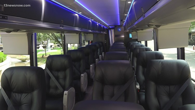Ride The ROX motorcoach in Virginia Beach brings luxury to your D.C. trip