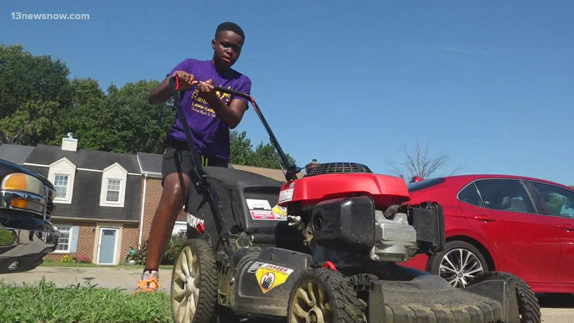 The Mowing Movement: Chesapeake teen inspires others through his service