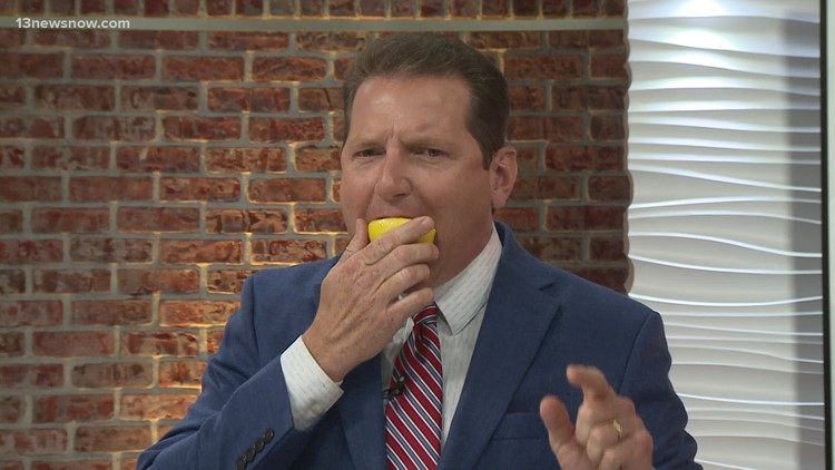 13News Now Meteorologist Craig Moeller ate lemons for a good cause: raising money for childhood cancer