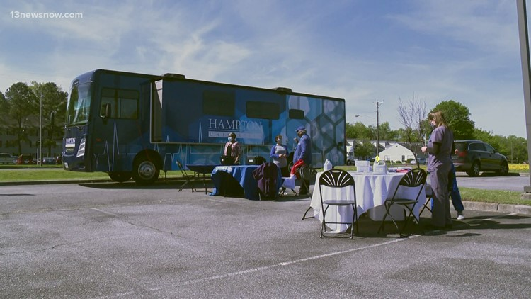 Hampton University takes its mobile vaccination clinic to Portsmouth to reach underserved individuals