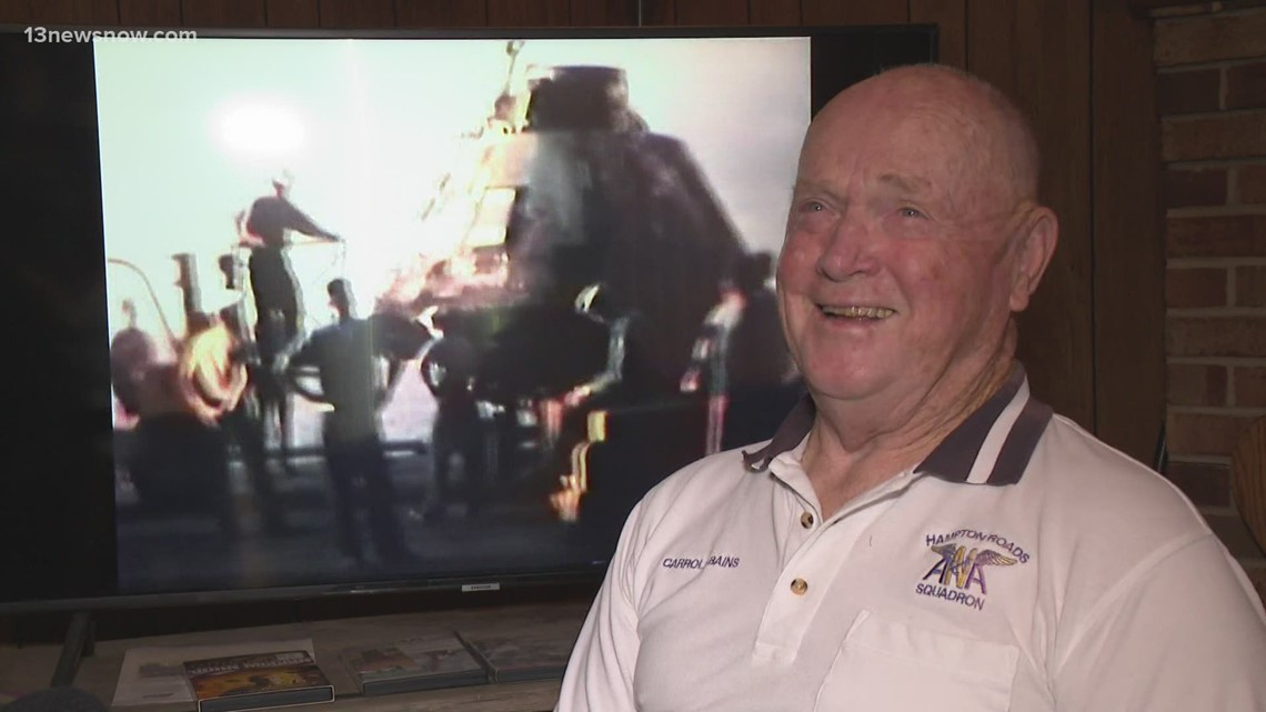 Virginia Beach man remembers role in Apollo 11 recovery mission, 52 years ago