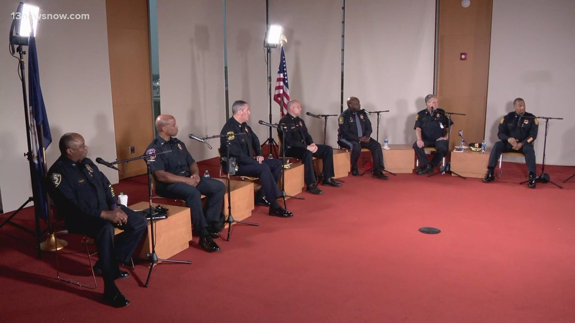 Police Chiefs in Seven Cities address the recent spike in gun violence