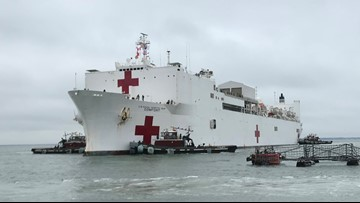 Hospital ship USNS Comfort returns from 5-month deployment