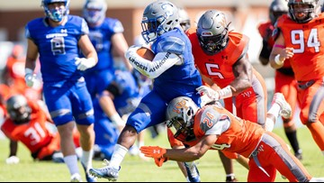 Jedlick leads CNU over William Paterson, 34-10, for 1st win of the season