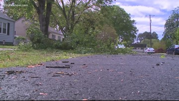 Residents in Hampton react to Friday's storms