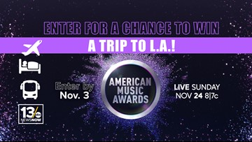 Fly Away to the AMAs sweepstakes rules
