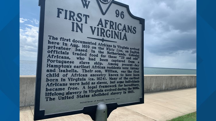 first africans in virginia historic marker