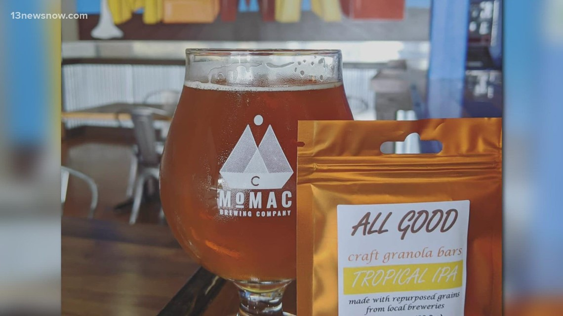Granola from... beer? Virginia Beach man uses leftover grains from breweries to make granola