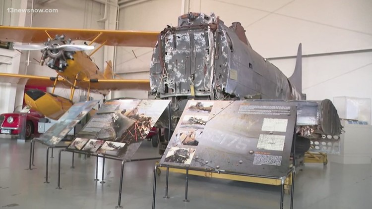 WWII Plane Recovered from Lake Michigan Exhibited at Virginia Beach Museum
