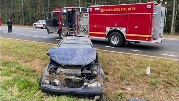 Person extricated from car after crash in Isle of Wight County