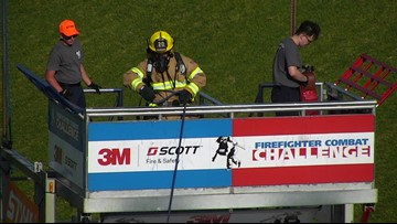 Firefighters from across the nation compete in Virginia Beach