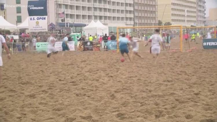 Sand soccer tournament boosts business