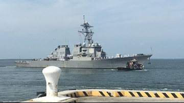 USS Ramage deploys from Naval Station Norfolk