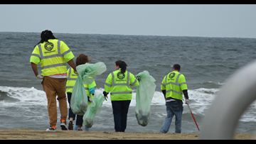 After 'Something in the Water,' beach trash cleanup begins