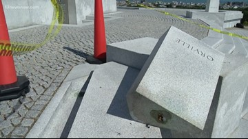 Orville Wright copper bust stolen from memorial