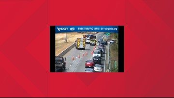 Multi-vehicle accident on I-64 in James City County causes miles-long backup