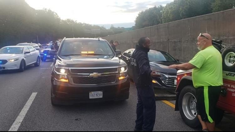 Police investigate incident on I-64 in Norfolk after man found dead