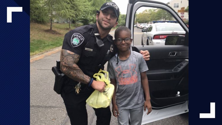 Newport News officer surprised by boy's kindness on Easter