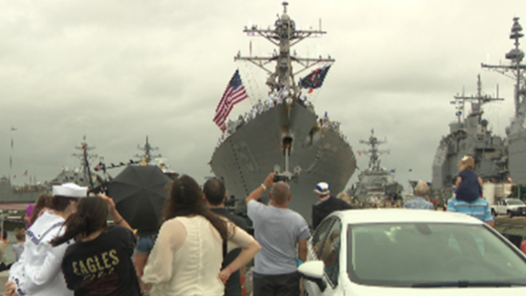 Two ships, more than 600 sailors return to Norfolk
