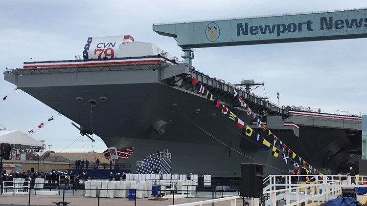 Future USS John F.  Kennedy to be christened today