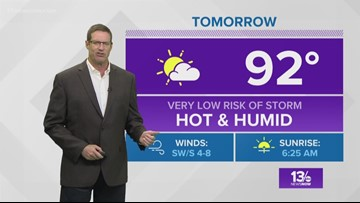 13News Now Weather at 6 p.m. - August 18