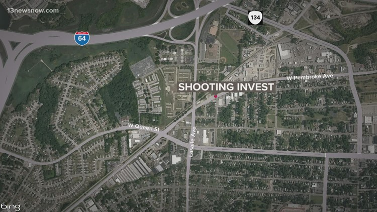Man struck by gunfire while driving in Hampton Sunday afternoon