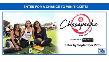 Chesapeake Wine Festival sweepstakes rules