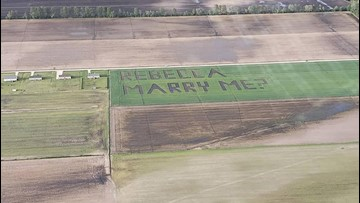 Nightingale crew captures marriage proposal etched into North Carolina field