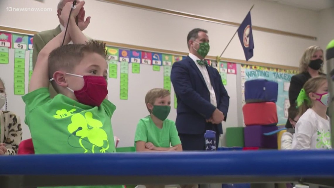 First Lady Pam Northam and Virginia's Secretary of Education tour Isle of Wight school