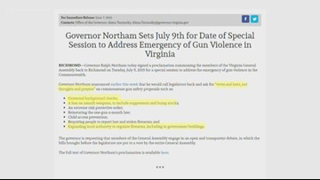 Upcoming special session to focus on gun legislation