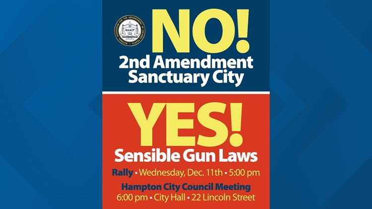 Hampton NAACP encouraging city leaders to 'Say No!' to 2nd Amendment Sanctuary status