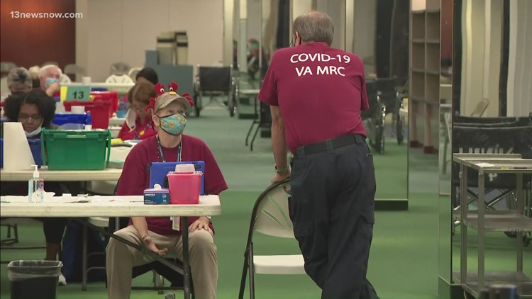 Mass vaccination clinic reopens at Military Circle Mall