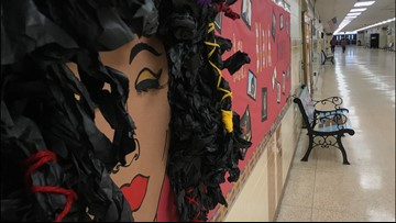 Chesapeake public school students, staff decorate for Black History Month