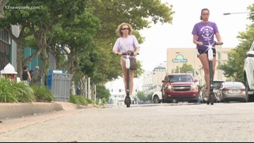 Virginia Beach City Council considers banning e-scooters at the Oceanfront