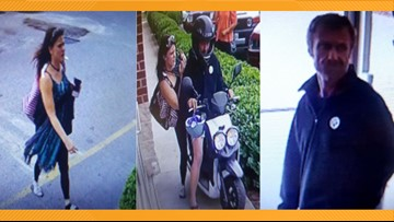 'Bonnie and Clyde' couple make getaway on moped after stealing clothes from Thrift Store USA in Norfolk