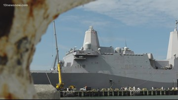 Happy homecoming for sailors aboard Kearsarge, Arlington at Naval Station Norfolk