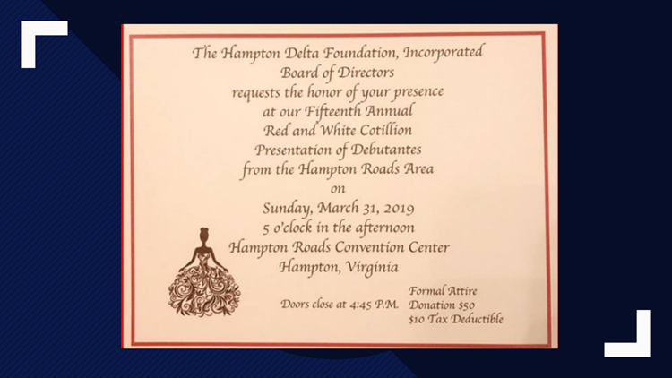 Hampton Delta Foundation hosts 15th Annual Red & White Debutante Cotillion