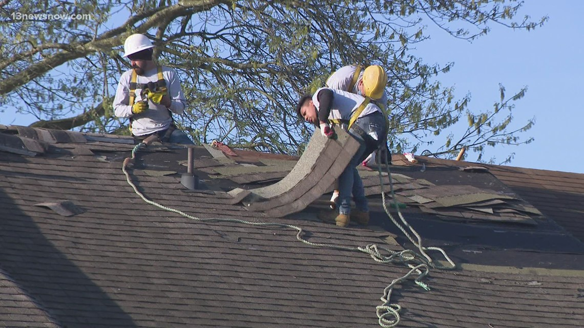 Habitat for Humanity, other do-gooders build new roof for Virginia Beach veteran