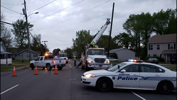 Police: Woodland Road in Hampton closed after utility pole damaged in accident