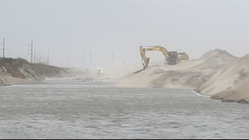 NC-12 on Outer Banks still closed, travel conditions remain poor, NCDOT says