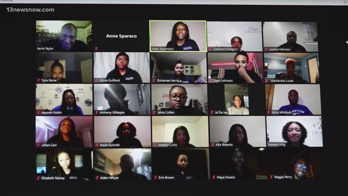 Senator Tim Kaine meets virtually with Hampton University leadership students