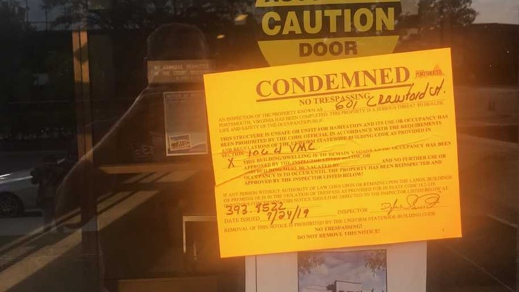 Condemned Sign Portsmouth