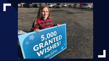 5,000th wish granted by Make-A-Wish Greater Virginia