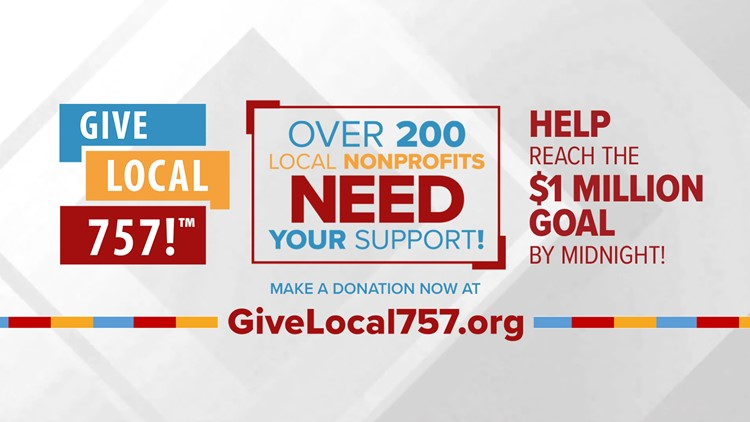 Last year, Hampton Roads raised more than $1 million for nonprofit groups. Now, let's do it again!