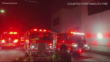 Portsmouth, Navy crews extinguish fire at commercial building