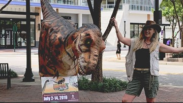 Dinosaurs are roaming Virginia Beach Town Center!